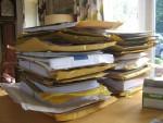 piles of manuscripts photo