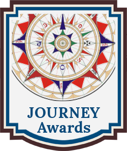 A compass logo for the Journey Awards