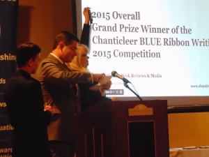 Gregory Phillips, last year's winner, opened the envelope with co-emcee's Kiffer Brown and Fox Deatry...