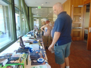 Award winning authors were on hand to sign books