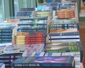 Piles and piles of books