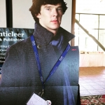 Sherlock was happy to volunteer himself to be raffled off