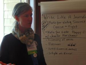 Jennifer Karchmer taught about writing like a journalist