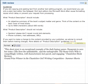 HOW to POST an EDITORIAL REVIEW on AMAZON COM by Sharon Anderson